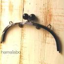 <廃盤予定>【HA-395】24cmくし型/(大きな黒玉×ブラック)・カン付き