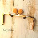【HA-426】<ビスケット口金>18cm/角型(ゴールド)・カン付き