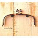 3月18日販売開始!【HA-1561】17cm/くし型の口金/(六花-雪の結晶×シルバー)