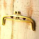 激安!【HA-412】親子口金 20.4cm(大玉×ゴールドサティーナ)・カン付き