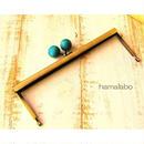 1月17日販売開始!【HA-1537】19cm浮き足口金/ちょっと大きな紺色の木玉(アンティークゴールド)