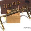 【HA-305】ヒゲ口金/18cm角型(ゴールド)・兼用カン付き