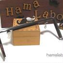 【HA-306】ヒゲ口金/18cm角型(シルバー)・兼用カン付き