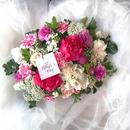 happy mothers day M ビビットピンク系