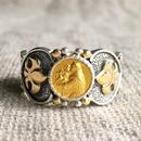 St.Anthonyゴールドメダル&ダイヤモンド シルバー&18Kゴールドリング SACRED HEART(RMD1012)