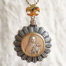 St.Thereseシルバーメダル&ダイヤモンド シルバー&18Kゴールドペンダントトップ  BRIGHT(PMD1006)