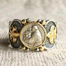 St.Anthonyシルバーメダル&ダイヤモンド シルバー&18Kゴールドリング SACRED HEART(RMD1016)