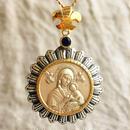 Maryシルバーメダル&ブルーサファイア シルバー&18Kゴールドペンダントトップ  BRIGHT(PMD1003)