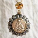 Jesusシルバーメダル&ダイヤモンド シルバー&18Kゴールドペンダントトップ  BRIGHT(PMD1004)
