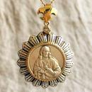 Jesusシルバーメダル&ダイヤモンド シルバー&18Kゴールドペンダントトップ  BRIGHT(PMD1002)