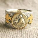 St.Anthonyシルバーメダル&ダイヤモンド シルバー&18Kゴールドリング CLASSIC(RMD1019)