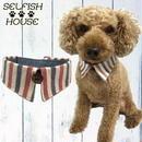 犬猫用付け襟 トリコロール ストライプ【S~LLサイズ】 シャツカラー つけえり