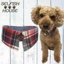 犬猫用付け襟 マドラスチェック レッド【S~LLサイズ】 シャツカラー つけえり