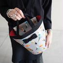 【新作・original textile】mini penelophia chemicalbirds grey