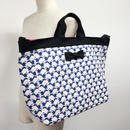 adjust strap tote special squirrel blue
