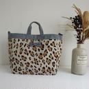 【完売】adjust strap tote summer leopard