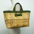 town mini fake basket kahki