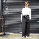 先行予約▶thomas magpie thai pants black