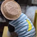 バナナプリントボーダーシャツ