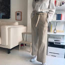 Wool belt pants