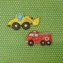 男の子に大人気!はたらくくるま 消防車&ブルドーザークッキー プチギフトやケーキの飾りにおススメ!!