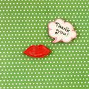wedding thanks gift 向き ☆Thank you & くちびるクッキー ~オーガンジーリボンラッピング付き~