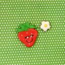 いちごフェイスのアイシングクッキー ☆プチギフトや手作りケーキのトッピングにぴったり!