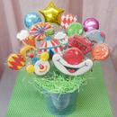食べられるブーケ☆サーカスクッキーブーケ13本☆お誕生日や記念日のお祝いに!名入れ・メッセージ入れ無料☆彡 ピエロのフォトプロップス付き