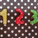 ナンバーアイシングクッキー Small ☆デコレーションケーキのトッピングにもぴったり☆