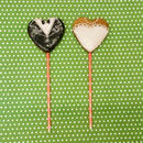 クッキーポップス☆wedding カップルクッキー☆ハートの新郎&新婦