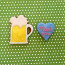 ビールのアイシングクッキー ☆Thanks Giftや手作りケーキのトッピングにぴったり☆