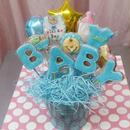 食べられるブーケ☆BABYクッキーブーケ10本☆ご出産祝いや内祝い、ベビーシャワーにぴったり!名入れ・メッセージ入れ無料☆彡
