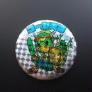 ゴーヤ天帝(ゴーヤ先生×イーサキング)キャラキャラマン缶バッチ57mm  のコピー