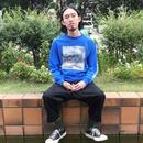 #gg8803083 L/S Print T-Shirt (BLUE)