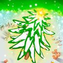 A4イラスト051 森のクリスマス