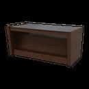 レント ガラススタンドセンターテーブル 90 (ミディアムブラウン) / LENT GLASS STAND CENTER  TABLE  (MF-MBR)