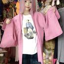 ピンク羽織り/used