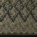French Leavers Lace 761179.299/130  GOLD/SABLE