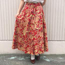 アンティーク花柄 レッドスカート