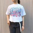 USA製 ホワイト 花柄プリントTシャツ