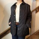 ブラック キルティングジャケット