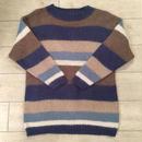 モヘア混ブルーボーダーセーター