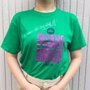 80〜90's グリーン プリントTシャツ