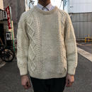 White fisherman knit