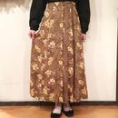 オリーブイエロー 花柄スカート