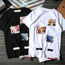 送料無料 [OFF-WHITE オフホワイト] 新作 大人気 セール Tシャツ 半袖 人気新品 男女兼可