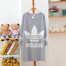 送料無料 半袖 アディダス adidas ロング Tシャツ レディース ワンピース [14]