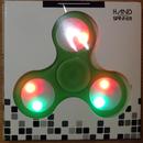 ボタンで光るLEDハンドスピナー グリーン (夜のイベントにおすすめ!)