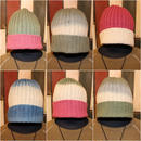 "JAVARA ""GRADATION COLOR RIB WATCH CAP""#2"