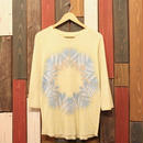 "JAVARA Raglan Sleeve 7tee ""SNOW DYE"" (light yellow)"